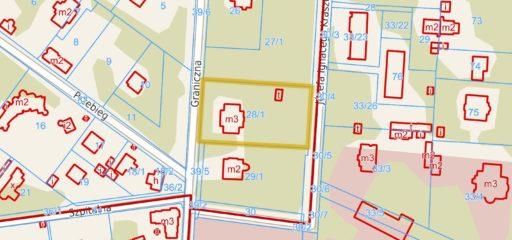 Nieruchomość 3340mkw zabudowana budynkiem mieszkalnym p.z.285mkw, Konstancin-Jeziorna
